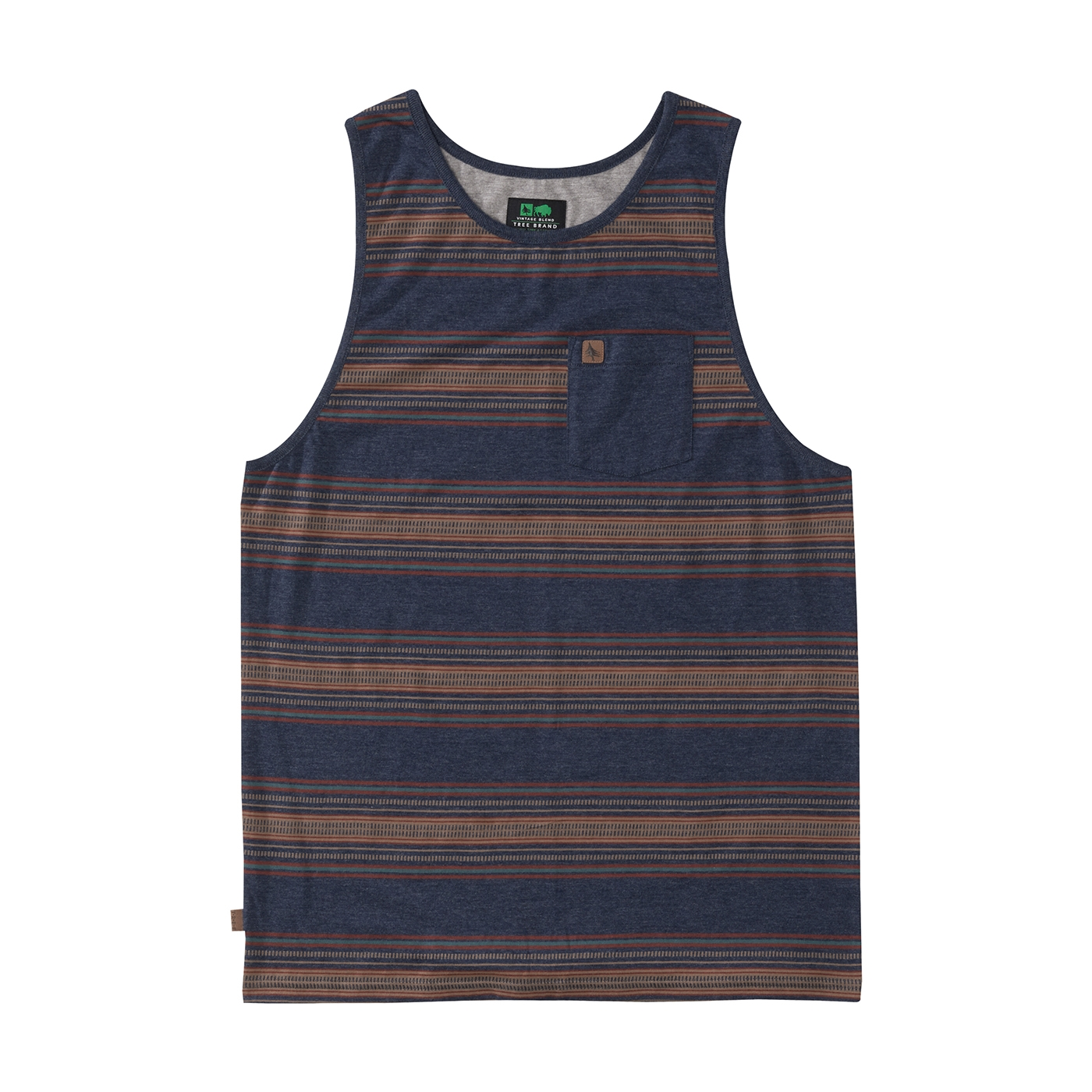 a84ca19d42f4b8 Lexington Tank Heather Navy   HippyTree